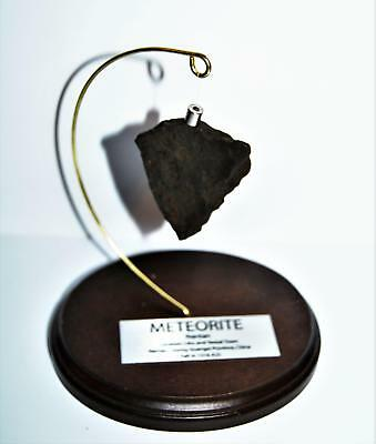 NANTAN IRON METEORITE 57.6 grams w/ Wood Display Stand, Label, & COA #14252 11o