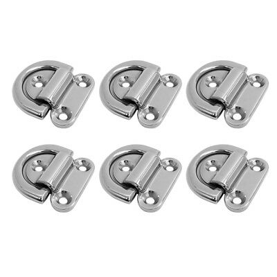 6 Pcs Strong Folding Pad Eye Lashing Ring Staple Cleat Tie Down Boat RV