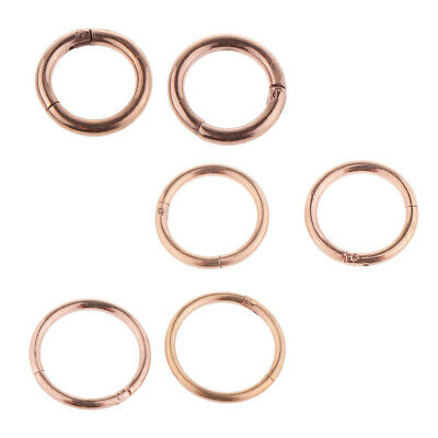 2Pcs Rose Gold Seamless Hinged Segment Ring Hoop Ear Lip Nose Septum 1.2mm