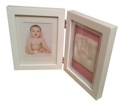 Baby Hand Print Foot Print Plaster Cast Kit Photo Frame Boys Girls Christening