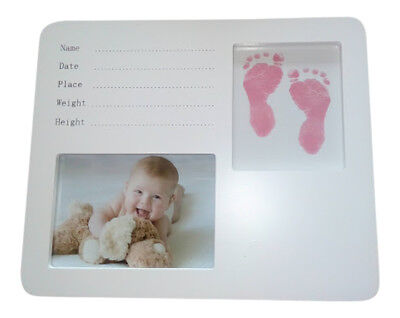 Baby Hand Print Foot Print ink Kit Photo Frame Girls Christening Personalise