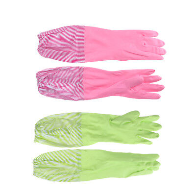 Household Rubber Gloves Latex Washing Kitchen Dishes Cleaning Long Cuff