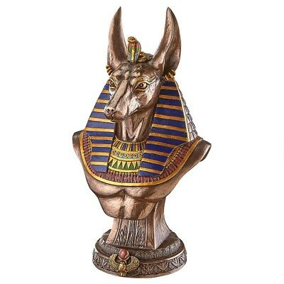 Ancient Egyptian Anubis Jackal God of Underworld Sculptural Bust