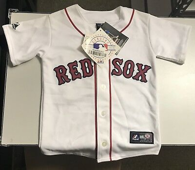 8f8073126 Majestic DAVID ORTIZ White BOSTON RED SOX Youth Stitched MLB Team JERSEY  Small S