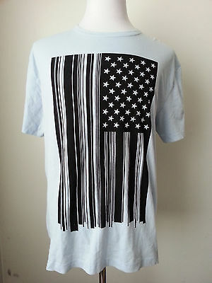 FRENCH CONNECTION men's graphic t-shirt 41 Kentucky Blue Size XL US FLAG