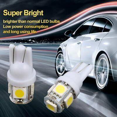 2pcs T10 DC12V 5 SMD 5050 White LED Car Wedge Tail Side Light Waterproof JX