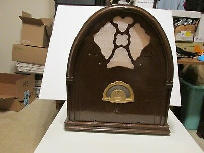 Apex Model 7-A Radio Vintage Cabinet Only See Pictures 1932 Radio SteamPunk ?!!