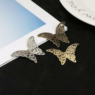 20pcs Metal butterfly Filigree Wraps Connectors Metal Crafts Jewelry Making