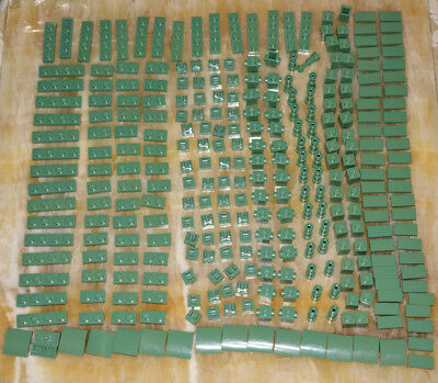 Lego Lot of 300pcs New Sand Green Plate Tile Brick Slope Telescope 1x2 1x4 1x1