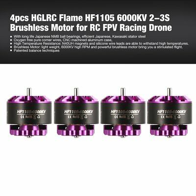 4pcs HGLRC Flame HF1105 6000KV 2-3S Brushless Motor for RC FPV Racing Drone LS