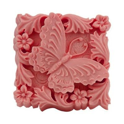 Butterfly In Flowers Silicone Soap mold Craft Molds DIY Handmade Candle Molds