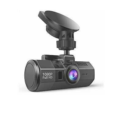 Crosstour Dash Cam 1080P FHD DVR Camera Video Recorder Wide Angle LCD Motion Det