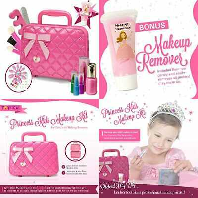 Kids Makeup Kit For Girl W Make Up Remover Real Washable & Non Toxic Play Prince