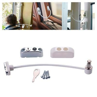 Wally Lock Catch Wire Door Window Restrictor Child Baby Safety Security Cable sh