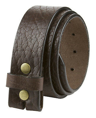 """LEJON Casual Full Grain Vintage Leather Belt Strap Made in USA 1 1/2"""" Wide Brown"""