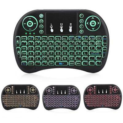 0e32a47bec1 LED Light 2.4G Mini Wireless Keyboard Mouse Touchpad For Laptop Smart TV Box