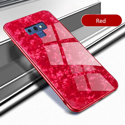 For Samsung Galaxy Note 9 S8 S9 Luxury Tempered Glass Hard Shockproof Case Cover