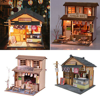 1/24 DIY Wooden Dolls House Gift - Chinese BBQ Shop & Japanese Grocery Store