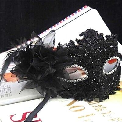 Lace Venetian Mask Masquerade Carnival Party Ball Fancy Dress Costume Black NR7