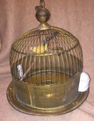 Hendryx Bird Cage Antique Vintage Brass Dome Shaped