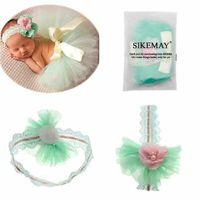 Newborn Girl Photography Outfits Baby Photo Props Tutu S 01 GREEN Free Size Suit