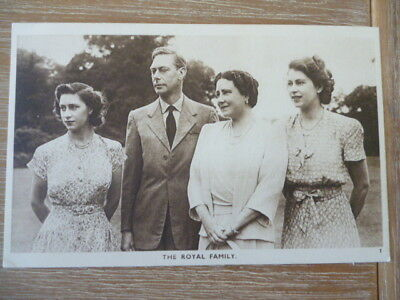 vintage unused post card  The Royal Family