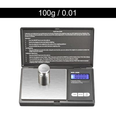 100g * 0.01g LCD Digital Pocket Scale Jewelry Gold Gram Balance Weight Scale GA