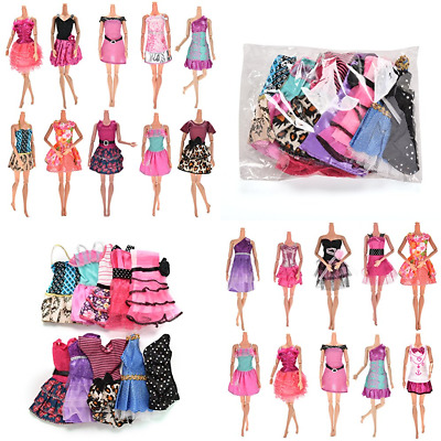 10 Pack Doll Clothes Handmade Wedding Dress Party Gown Outfits For Barbie Girl's