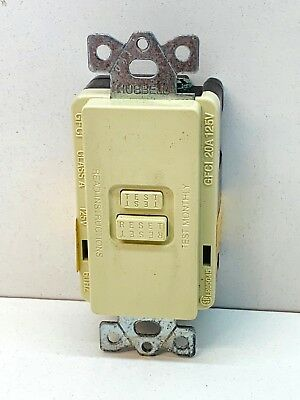 Hubbell GFR5350I Ground Fault Device Faceless Circuit Guard GFCI 20A 125V Ivory