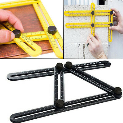 Universal Angle Ruler Template Measuring Tool Multi Angle Carpenter Instrument