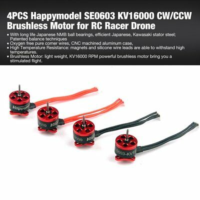 4PCS Happymodel SE0603 KV16000 CW/CCW Brushless Motor for RC Racer Drone A8