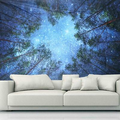 Forest Tree Decorative Wall Hanging Bohemian Hippie Wall Poster Tapestry MA