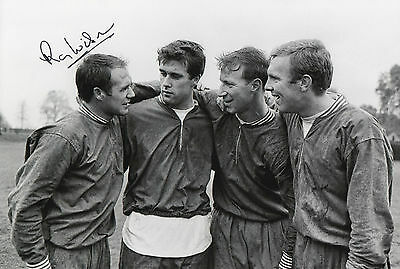 RAY WILSON Signed In Person 12x8 Photo 1966 WORLD CUP & EVERTON Legend Proof COA