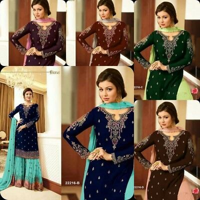 44e7493a9e Indian Bollywood Designer Palazzo Salwar Kameez Pakistani Salwar Suit Eid  Dress