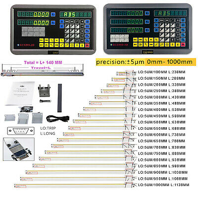 US 2/3Axis Digital Readout DRO Display Linear Scale Encoder for Bridgeport Mill