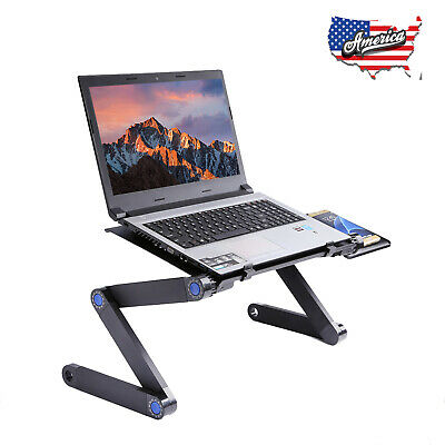 Adjustable Aluminum Laptop Desk Ergonomic Table Notebook Vented Stand Portable