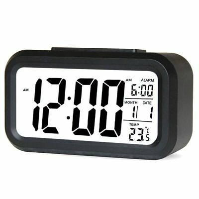 Pop Smart Clock Digital LCD Table Desk Night Alarm Watch 24 or 12 Hour Display