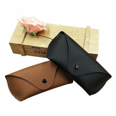 Unisex Faux Leather Eye Glasses Box Case Cover Sunglasses Holder Pouch Bag LU
