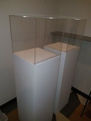 White Display Plinth with Acrylic Top
