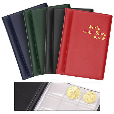 120 Pcs Coin Collection Holders Storage Money Penny Pocket Album Book Folder.