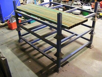 Metal stackable stillage, racking, pallet stacks