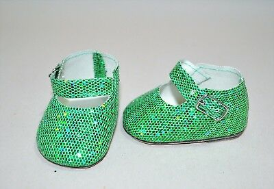 American Girl Dolls Clothes Our Generation 18 Doll Clothes Green Glitter Shoes