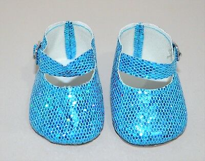 American Girl Dolls Clothes Our Generation 18 Doll Clothes Blue Glitter Shoes