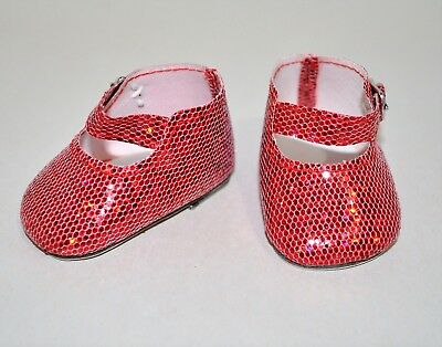 American Girl Dolls Clothes Our Generation 18 Doll Clothes Red Glitter Shoes