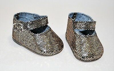 American Girl Dolls Clothes Our Generation 18 Doll Clothes Bronze Glitter Shoes