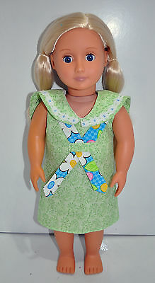"American Girl Doll Our Generation Journey Girl 18"" Dolls Clothes Green Sun Dress"