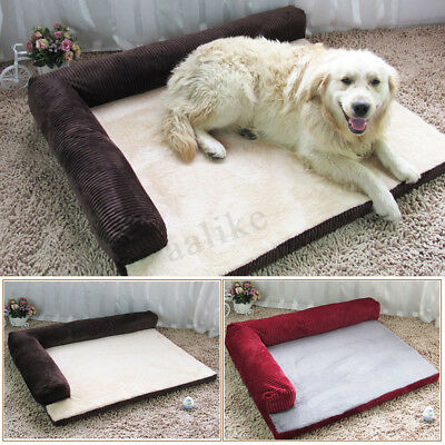 Soft Warm Orthopedic Pet Dog Memory foam bed mat With Removable Cover S/M/L/XL