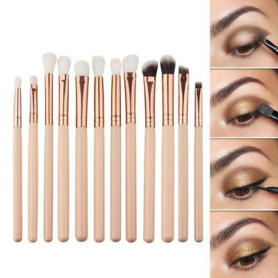 12x Pro Makeup Brushes Set Foundation Powder Eyeshadow Eyeliner Lip Brush Tool#q