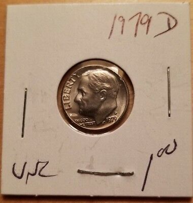 1979 Roosevelt US Dime D in UNCIRCULATED (UNC) Condition