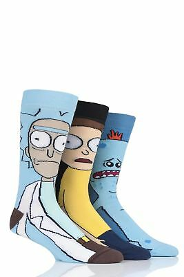 Mens 3 Pair SockShop Rick and Morty Cotton Socks